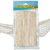Nautical Fish Netting Party Decor 1.2m x 3.7m NATURAL