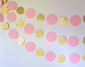 Baby Pink and Glittery Gold Party Decor Garland