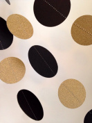 Glittery Gold and Black Paper Garland Party Décor