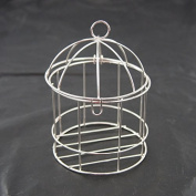 Mini Metal Wire Bird Cage, 10cm , Silver