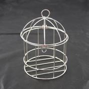 Mini Metal Wire Bird Cage, 10cm , Silver