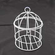 Mini Metal Wire Bird Cage, 10cm , White