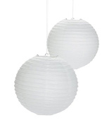White Paper Lanterns - 20cm - Set of 2
