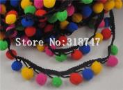1yard 12mm Pom Pom Trim Ball Fringe Ribbon Lace