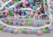 1y 10mm Pom Pom Trim Ball Fringe Ribbon Sewing Accessory Lace