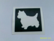 10 x West Highlander / Scottish Terrier stencils for etching on glass dog