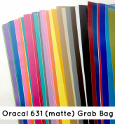Kate's Craft Store 30cm x 30cm Removable/Indoor Adhesive Craft Vinyl Sheets (30 PACK) Assorted Colours for Cricut, Silhouette Cameo, Craft Cutters, Printers, Letters, Wall Decoration, Decals, and More!
