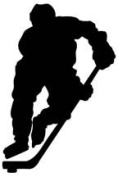 Hockey Player Vinyl Sticker /Decal Buy 2 Get 3rd Free