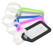 vanki Assorted Colours Travel Accessories Luggage Tag Identifier with Name Card