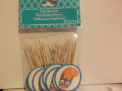 24 Piece Cupcake Picks *Owls*