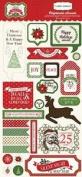 Carta Bella Paper Company Happy a Merry Christmas Chipboard, 15cm x 33cm