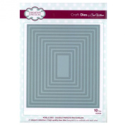 Craft Die CED5508 Sue Wilson Noble Collection - Double Pierced Rectangles