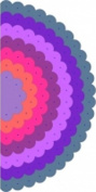 Cheery Lynn Designs DL203 Scalloped Circle Mega Doily 7pc