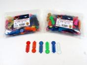 Dental Elastic Orthodontic Ligature V Ties Bands Kit/2 Bags Assorted Colour /2000 Pcs Set ORTHOM USA
