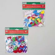Ddi Foam Christmas Stickers 140 Count