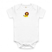Organic Baby Shirt - Lion Onesie for Charity - 3-6 Months