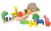 Houyue Wooden Stacking Seesaw 12pcs Wooden Blocks