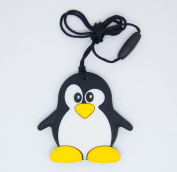 Penguin Pendant Silicone Teething Necklace For Moms and Teething And Nursing Babies BPA Free Chewable Teething Necklace