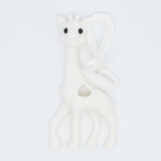 White Giraffe Pendant Silicone Teething Necklace For Moms and Teething And Nursing Babies BPA Free Chewable Teething Necklace