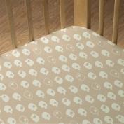 Living Textiles Organic Jersey Fitted Sheet, Jaxson Elephant