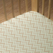 Living Textiles Organic Jersey Fitted Sheet, Peaks