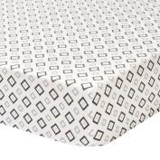 Sydney Cotton Jersey Sheet - Grey Geo