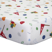 Puppy Pals Fitted Crib Sheet by Belle