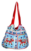 Cotton Canvas Heavy Embroidery Mirror Work Elephant Handcrafted Indian Sling Shoulder Bag