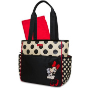Disney Minnie Mouse Polka Dot Nappy Tote Bag - Black, Tan and Red