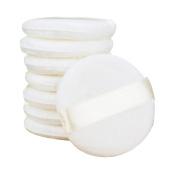 EUBUY Baby Powder Puff - Ultra Soft Fluffy Todder Kids Body Powder Puff with Ribbon 8.1cm Diameter - White Round