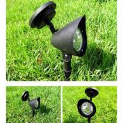 MMRM 4 LED Solar Powered Spotlight Landscape Yard Garden Path Lawn Lamp Outdoor Lighting