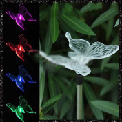 MMRM Butterfly Design LED Path Light Colour Changing Solar Powdered Garden Yard Lawn Xmas Lighting Decoration