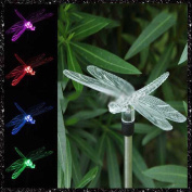 MMRM Dragonfly Design LED Path Light Colour Changing Solar Powdered Garden Yard Lawn Xmas Lighting Decoration