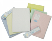 Flannelette Cot Bed Sheets - 2 Pack - Colours Cream, Lemon, Mint, Pink, Sky, White