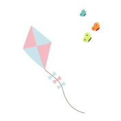 Kite and butterflies wall sticker by Stickerscape - farm theme - removable - wall decal - wall graphic - wall art