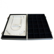 Black Bead Design Board Case Box w 24 Compartments for Beads n Jewellery Findings