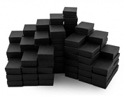 Black Cotton Filled Jewellery Box #32