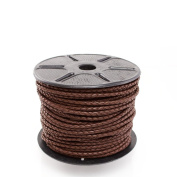 4mm Brown Leather Cord Braided Bolo - 1 Yard or 36 Inches CB0400BRN-1