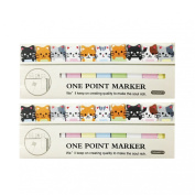 Wrapables Bookmark Flag Tab Sticky Notes, Kitties, Set of 2