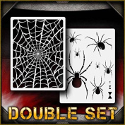Spider Web Set 1 AirSick Airbrush Stencil Template