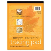 Art1st Parchment Tracing Paper, 9 x 12, White, 50 Sheets, Sold as 1 Pad, 50 Sheet per Pad