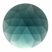 Stained Glass Jewels - 35mm Round Faceted - Steel Blue