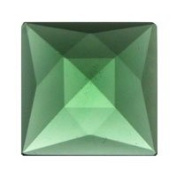Stained Glass Jewels - 18mm Square Faceted - Sea Green