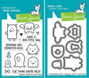 Lawn Fawn Monster Mash Clear Stamp and Die Set - Includes One Each of LF700 (Stamp) & LF701 (Die) - Custom Set