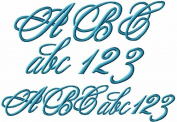 ABC Machine Embroidery Designs Set - Monogram 10cm Two Sizes - 124 Designs - 4x 4 Hoop - CD