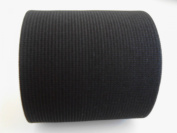 7.6cm Wide Black Heavy Knit Stretch ELASTIC 3 Yards By Prolastic