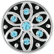 Petite Ginger Snaps STARLIGHT - AQUA BLUE GP05-39 Interchangeable Jewellery Snap