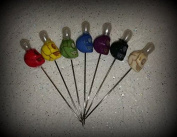 Karma Keepers 7 Candle Magick Ritual Pins Voodoo Doll Pins Skull Top Sage Cleansed, 5.1cm
