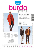 Burda Men's Coat and Jacket Sewing Pattern 7142