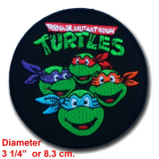 Teenage Mutant Ninja Turtles Movie Cartoon Superhero Logo Kid Baby Boy Jacket T shirt Patch Sew Iron on Embroidered Symbol Badge Cloth Sign Costume By Prinya Shop